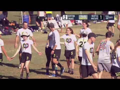 Video Thumbnail: 2018 National Championships, Mixed Semifinal: Boston Snake Country vs. Seattle Mixtape