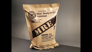 2019 US MRE Creamy Spinach Fettuccine Another One of the Worst Meal Ready to Eat Tasting Test