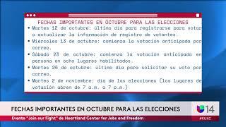 Fechas importantes que recordar para las elecciones del 2 de noviembre