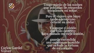 Carlos Gardel - Volver (Lyric video) [HQ Audio]