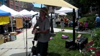 Elderly Woman Behind a Counter in a Small Town, Pearl Jam Cover. Phinney at Park Silly Sunday Market