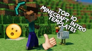 TOP 10 Best Minecraft Intro Templates | Cinema 4D/AE/Blender