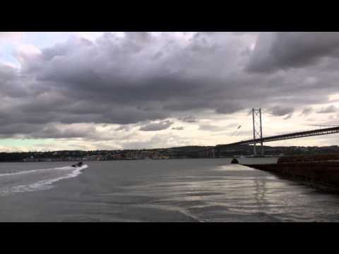 Rib Boat Forth Railway Bridge Firth Of Forth Scotland