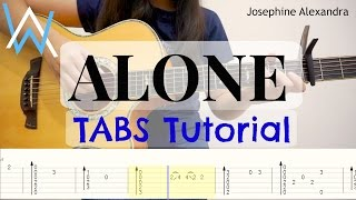 (Alan Walker) Alone - Fingerstyle Guitar TABS Tutorial | Josephine Alexandra