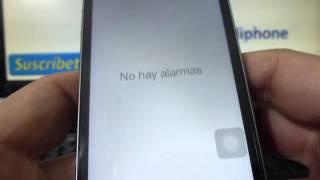 Cómo poner una alarma en mi iPhone 5S 5C 5 4 iOS 7 español Channeliphone
