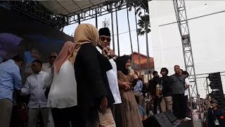 Satu Pangungg Bersama Nissa Sabyan dan Diajak Bernyanyi, Prabowo: Suara Saya Jelek