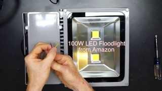 100 Watt LED vs 500 Watt Halogen Floodlight Comparison