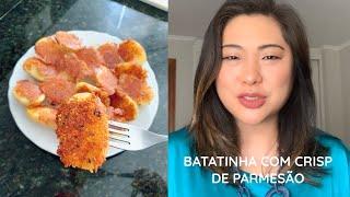 BATATINHAS COM CRISP DE PARMESÃO