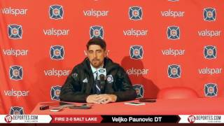 Veljko Paunovic DT del Chicago Fire satisfecho con ganar al Salt Lake