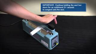 How to Seal Plastic Tubes with Sealer Sales PFS-200B