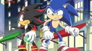 Sonic X - Sonic Meets Shadow (with Vegeta's Theme)