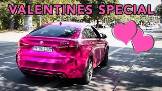 Crazy CHROME PINK wrapped BMW X6M - Valentines special + SOUND & RIDE