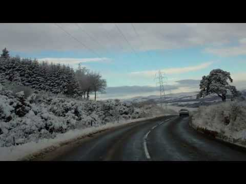 January Afternoon Drive From Dundee To Coupar Angus Perthshire Scotland