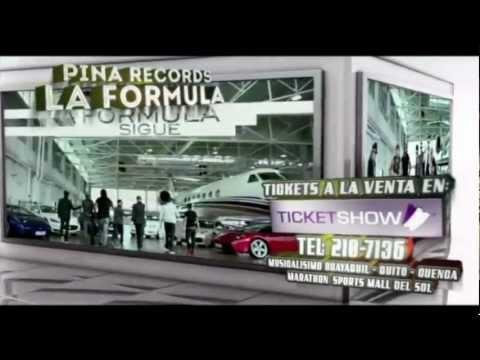 LA FORMULA de Pina Records en Ecuador 2012 Promo