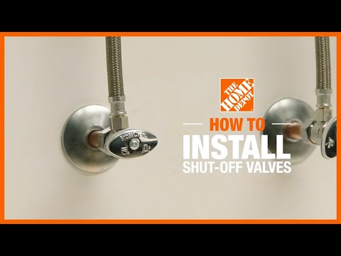 A video shows how to install shutoff valves.