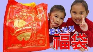 義大遊樂世界的福袋 我們在高雄義大遊樂世界商店買的新春驚喜袋 好可愛的女神黛安娜娃娃系列週邊商品玩具組 玩具開箱一起玩玩具Sunny Yummy Kids TOYs surprise box