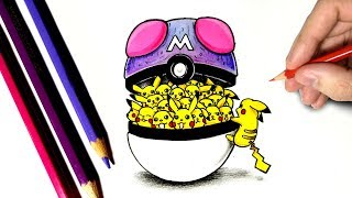 Dessinons 3 Pokéballs en version doodle Art !