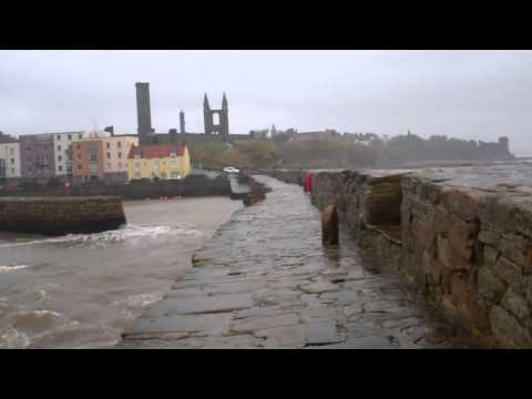 Winter Walk Down The Long Pier St Andrews Fife Scotland