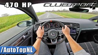 470HP VW Golf GTI CLUBSPORT POV Test Drive by AutoTopNL