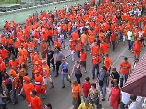 Holland fans in Kharkov on Euro 2012