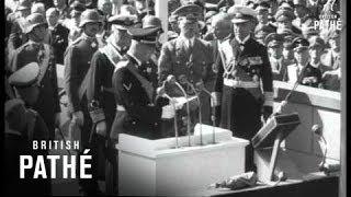 Frau Von Horthy Launches Prince Eugen (1938)
