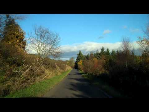 November Rural Drive Perthshire Scotland