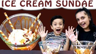 ICE CREAM SUNDAE CHALLENGE Mystery Wheel | Brother vs Sister | Aayu and Pihu Show