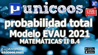 Imagen en miniatura para LIVE!!! Modelo EvAU 2021 - Matemáticas II 13 - Ejercicio B.4 - Probabilidad total
