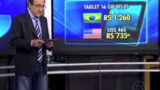 Jornal da Globo - Montadora de iPads no Brasil