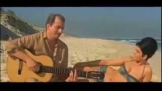 Tom Jobim, Luiz Bonfá e  João Gilberto, Canção do Mar,  cena do filme Copacabana Palace (1962)
