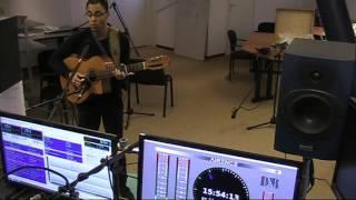 Singer songwriter Dumang Summer sings a fragment of HIM Human Intentions Matter at MusicMagic