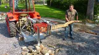Silent machine for cutting firewood (branches), safe and easy