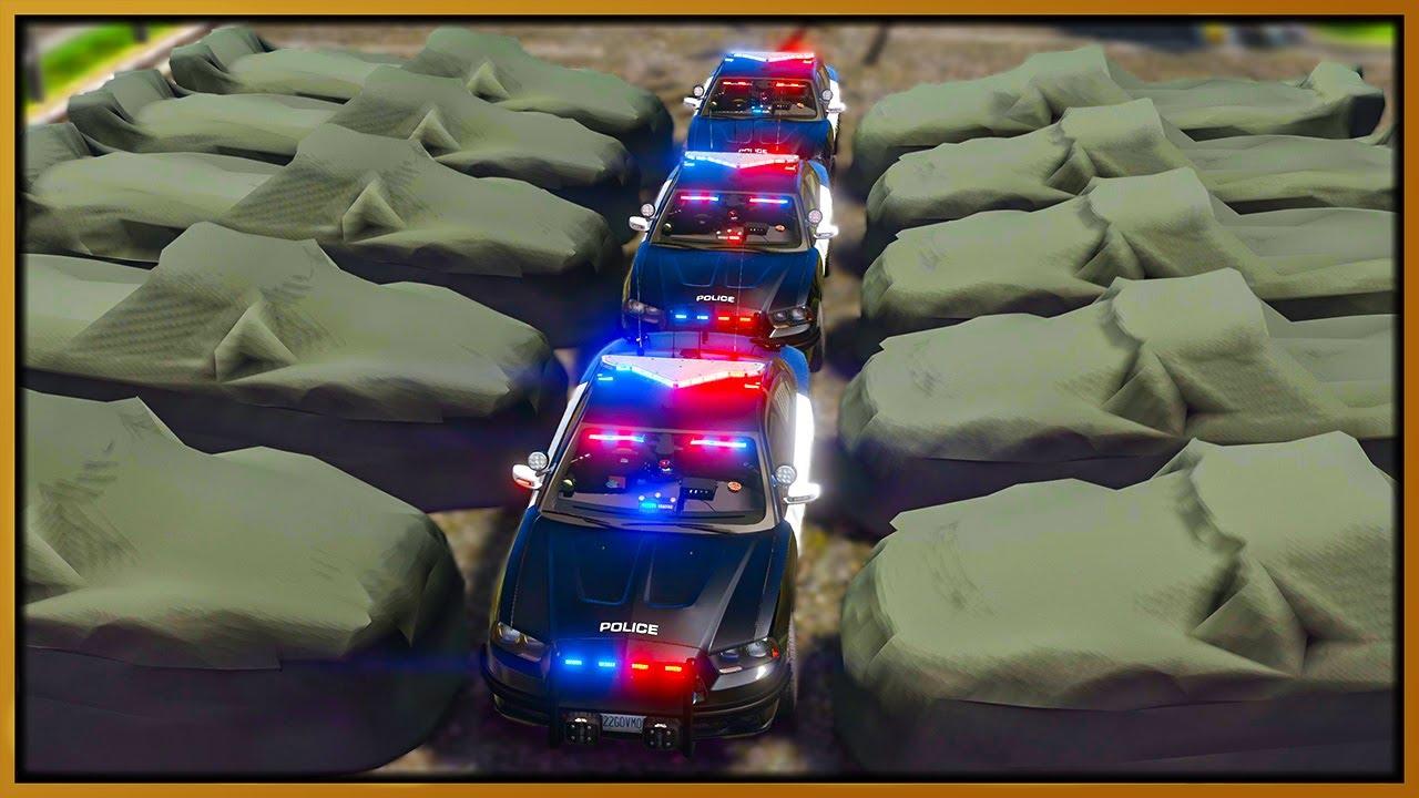 Elanip - GTA 5 Roleplay - 50 HIDDEN CAMOUFLAGE CARS TROLL COPS | RedlineRP
