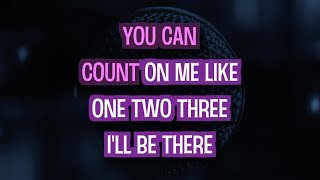 Count On Me Karaoke Version by Bruno Mars