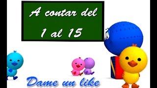 LOS NÚMEROS del 1 al 15 - Canción infantil educativa - La Pelota Loca