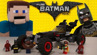 Minecraft LEGO BATMAN MOVIE Batmobile Vehicle Building toy Playset Unboxing review Kabuki twin