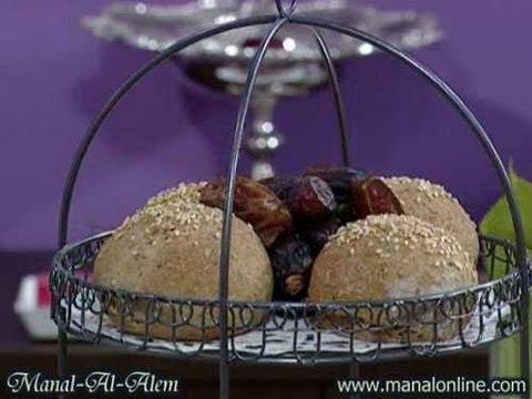 مطبخ منال العالم خبز التمر