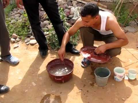 Traditional silver bead making Morocco