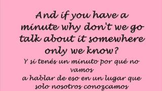 Somewhere Only We Know - Lily Allen (Lyrics & Traducción)