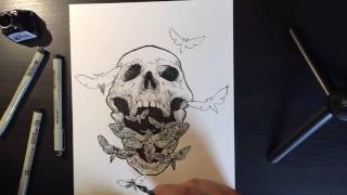 Drawing the Moth Scream EP artwork