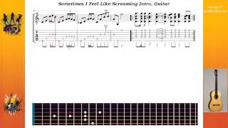 Sometimes I Feel Like Screaming Intro - Deep Purple - Guitar