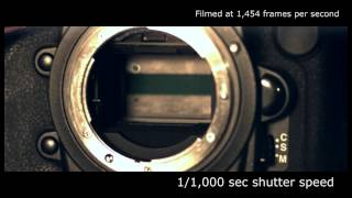 Slow motion camera shutter - Nikon D3s (1,454 fps)