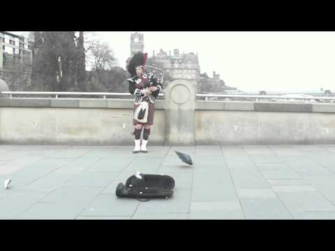 Bagpiper in Edinburgh, Scotland