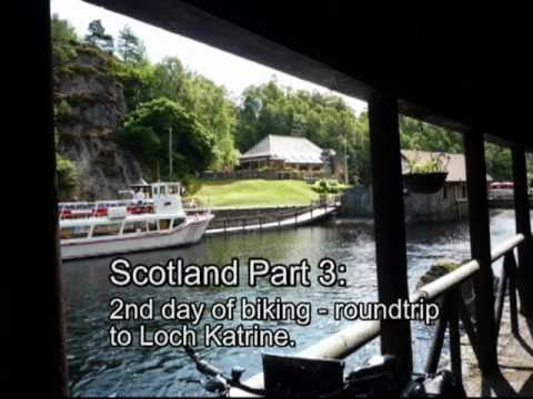 Scotland Part 3 – biking to beautiful Loch Katrine.mpg