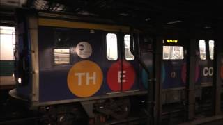 NYC Subway HD 60 FPS: BMT Broadway Line Rush Hour Action @ Canal Street (2/10/17)