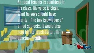 an ideal teacher width=