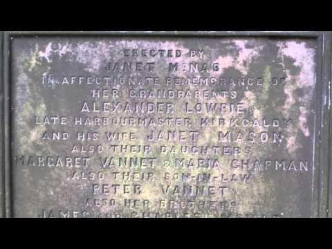 Alexander Lowrie Harbourmaster Gravestone Old Kirk Graveyard Kirkcaldy Fife Scotland