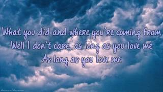 As Long As You Love Me - Sleeping At Last (lyrics)