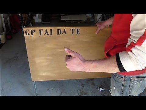 Come realizzare un tavolino con piano alzabile fai da te for Piano piano fai da te online