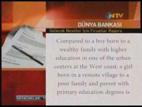 Dünya Bankası - Fırsat Eşitliği Raporu NTV Haber